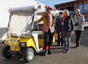 The buggy doing wedding duty