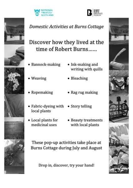 Domestic Activities at Burns Cottage